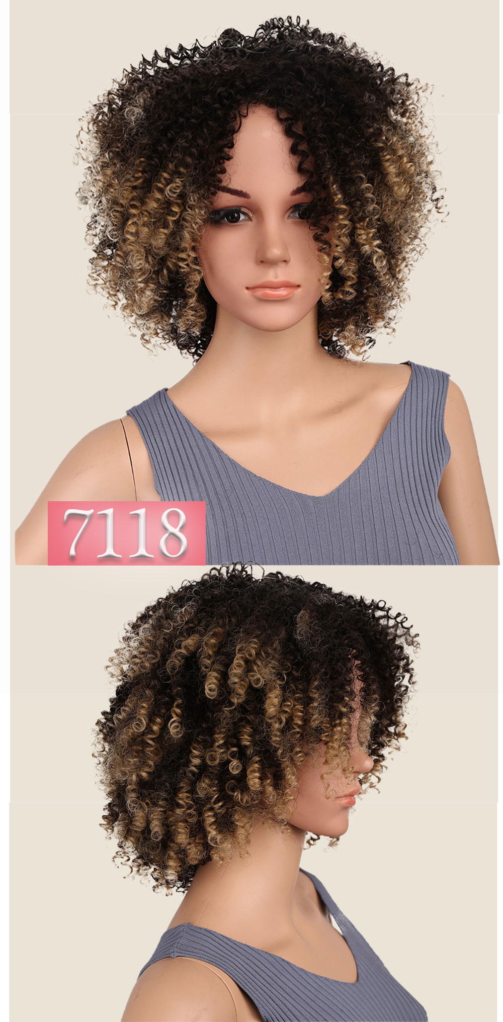 africano penteado resistente ao calor para mulher