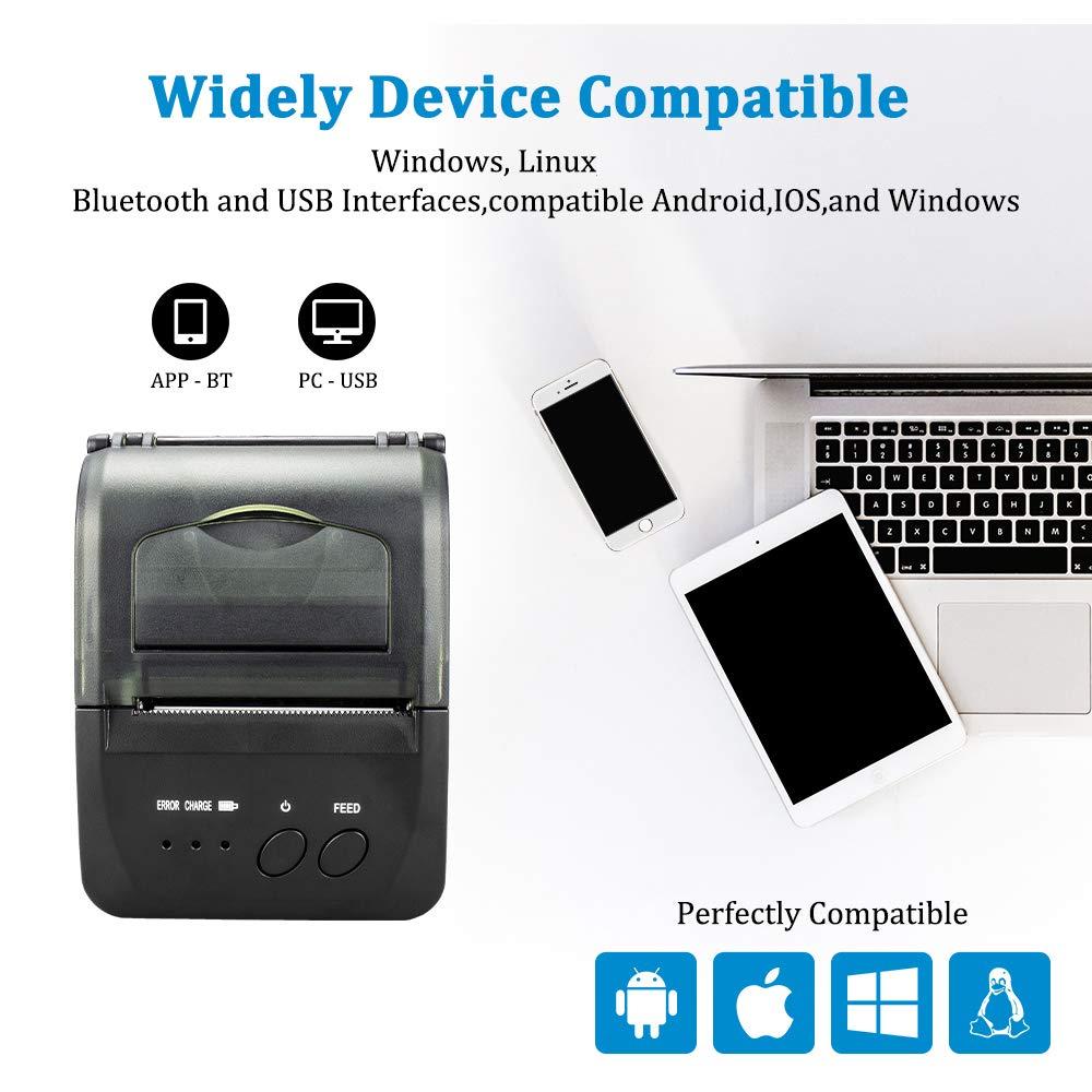 Tragbare Mini Bluetooth Drucker Wireless Thermische Erhalt Ticket Drucker Für Handy Fenster 58mm 2 zoll pos Maschine