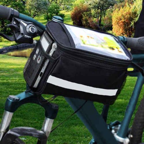 Bike canvas Handlebar Bag Bicycle Front Basket Outdoor Cycling Equipment pannier