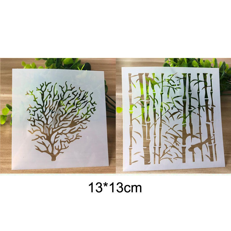 Stencil Branch Hollow Painting Template Embossing Craft Bullet Journal Accessories Sjablonen For Scrapbooking Stencil Reusable
