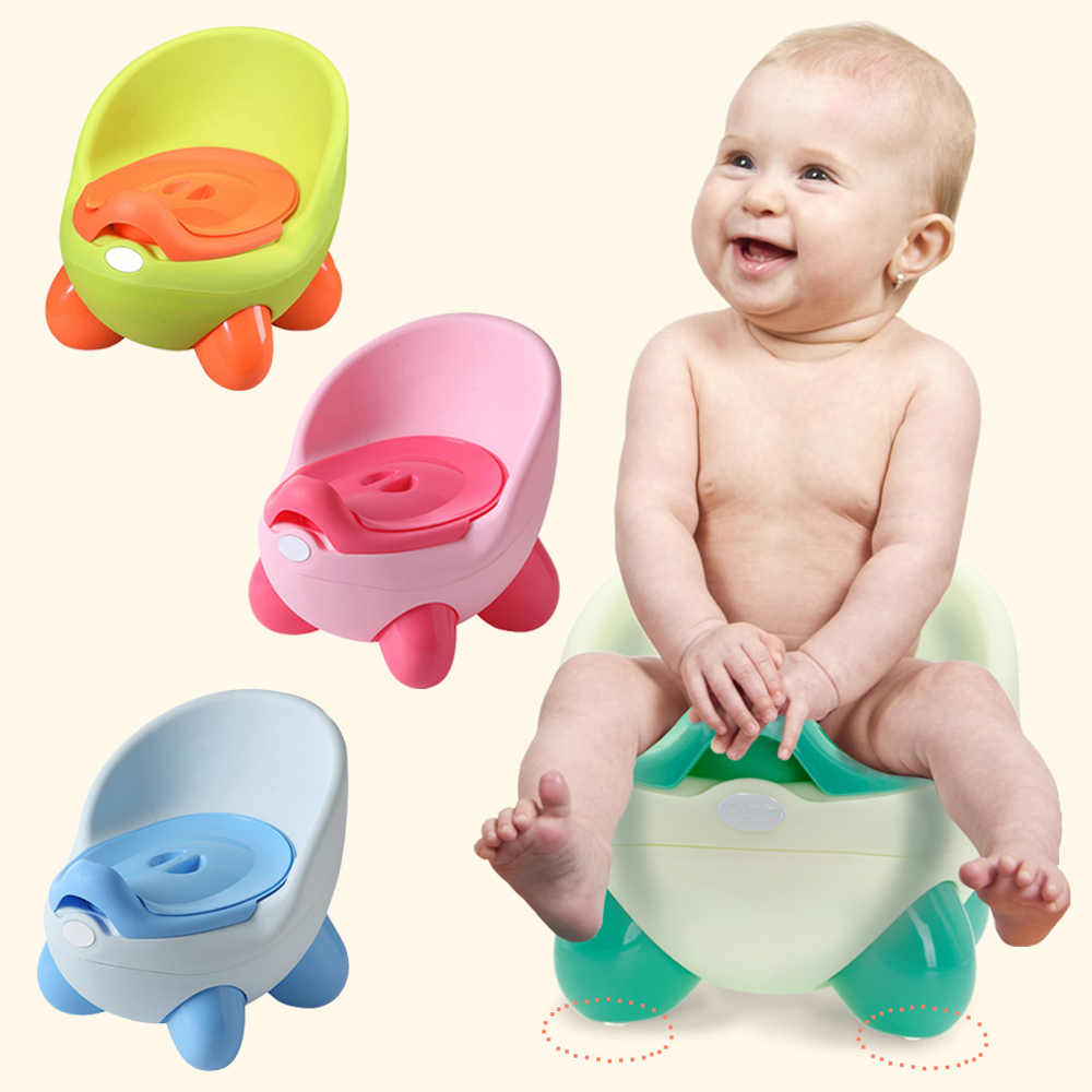 Portable Baby Potty Toilet Seat Bowl Training Pan Children's Pot Kids Bedpan Comfortable Backrest Toilet Girls Boys Cartoon Pots