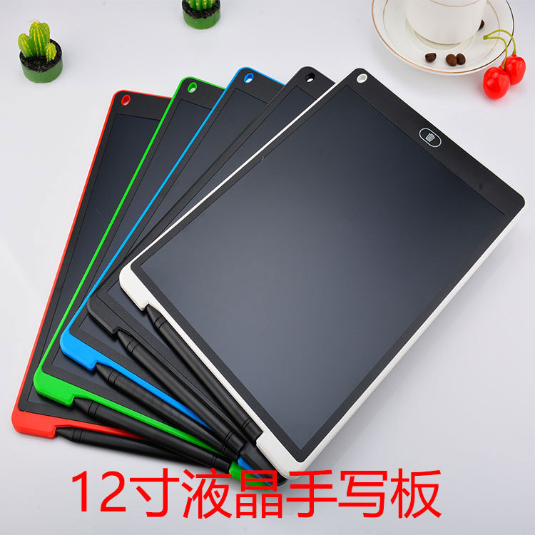 12-Inch Sketch LCD Tablet Electronic LCD Children Painted Blackboard Office Notebook Writing Board
