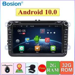 2 DIN Android 10 Car DVD for Volkswagen GOLF MK5 MK6 PASSAT B6 POLO SKODA Fabia GPS Navigation Radio USB/SD PC Canbus map