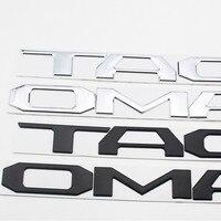 Wysokiej jakości 3D litery ABS znaczek z symbolem naklejki samochodowe naklejki dla Toyota Tacoma 2016 2017 2018 2019 2020 tylnej klapy akcesoria w Naklejki samochodowe od Samochody i motocykle na