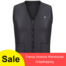 цена Men Women Outdoor USB Infrared Heating Vest Jacket Winter Flexible Electric Thermal Clothing Waistcoat Fishing Hiking Dropship онлайн в 2017 году