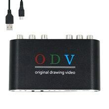 Odv para ossc compósito alternativo rca para s vídeo para console ypbpr para hdmi conversor de jogos retro 480p 576p