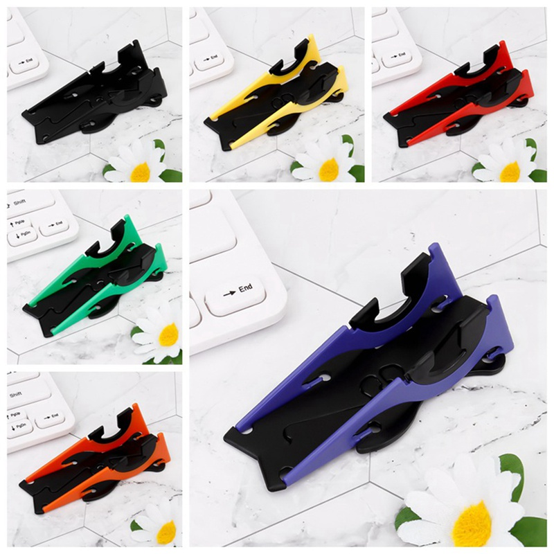Adjustable Portable Mini Mobile Phone Holder Foldable Stabilize Rotation Pocket Universal Card Type Stable Desk Stand