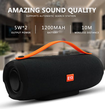 Portable Wireless Bluetooth Speaker Stereo Speaker phone Radio Music Subwoofer Column Waterproof Speaker for Computer with TF FM(Hong Kong,China)