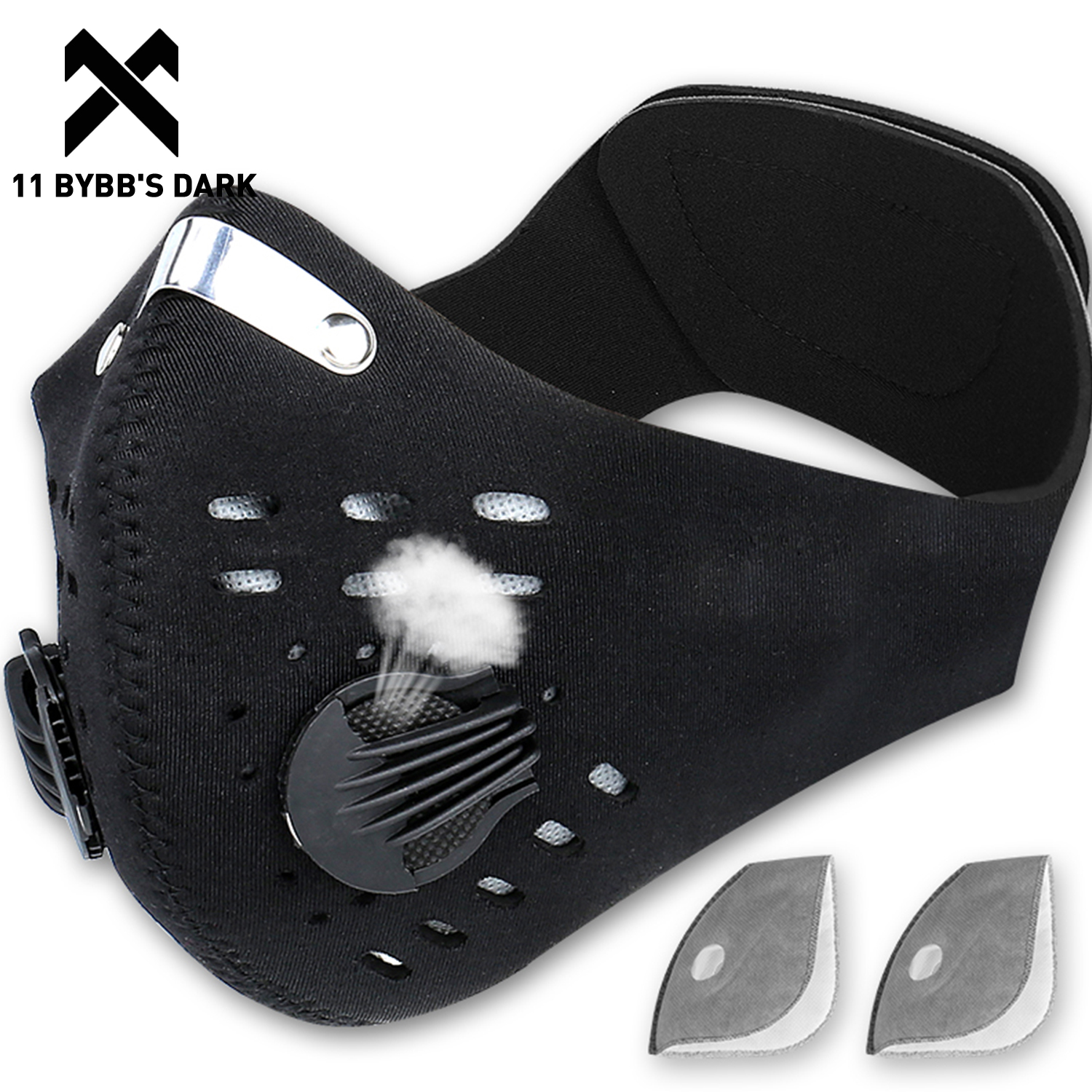 11 BYBB'S DARK Hip Hop Cycling Face Mask Filter PM2.5 Anti-fog Breathable Masks 2020 Anti-Pollution Sport Bike Training Facemask