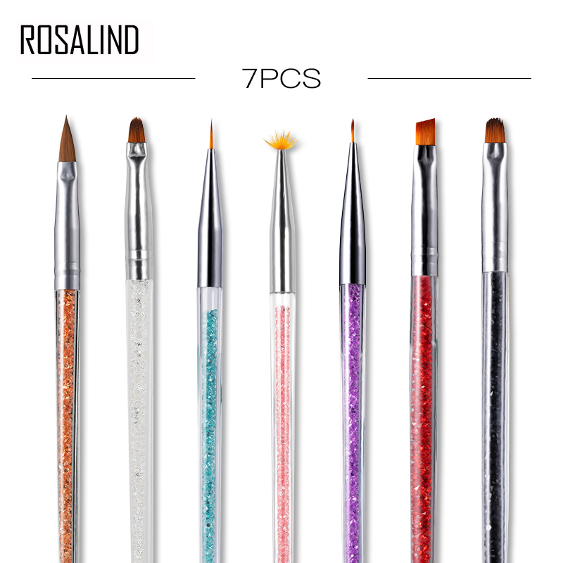 ROSALIND Manicure Tool Set Acrylic Nail Brush Painting Vernis Semi Permanant LED UV GEL Nail For All Manicure Brushes Set