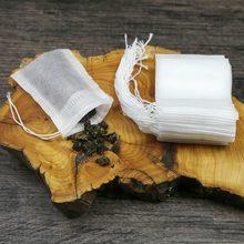 Чайные пакетики 100 шт./лот пакетики для заваривания чая 5,5X7 см Пищевая фильтрующая пакетик для чая с ниткой заживляющие пустые чайные пакетики посылка