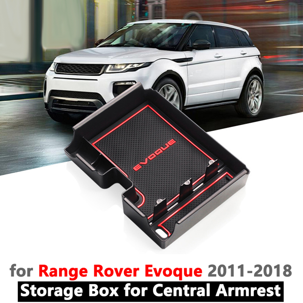 Replacement For Range Rover Evoque 2012-2018 Center Console Coins Wallet Storage Armrest Box Sundries Organizer Tray