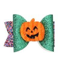Вечерние заколки для волос с бантиками на Хэллоуин девочек принтом