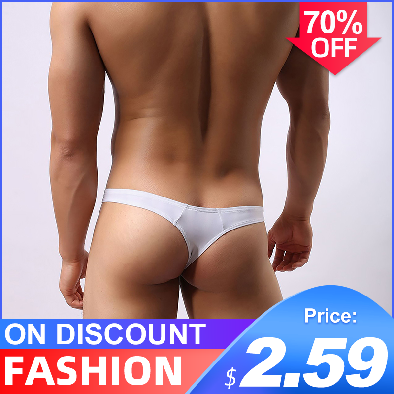 Cotton Sexy Gay Underwear Men Thong Men Jockstrap Men's Lingerie G String Men Penis Pouch Gay Underwear String Bikini Men AD313