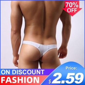 Cotton Sexy Gay Underwear Men Thong Men Jockstrap Men's Lingerie G String Men Penis Pouch Gay Underwear String Bikini Men AD313