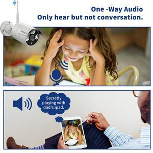Image 4 - Oossxx 8ch sistema de câmera de segurança sem fio 1080p nvr 4pcs 2mp gravação áudio hd cctv ao ar livre sem fio câmera ip vigilância vídeo