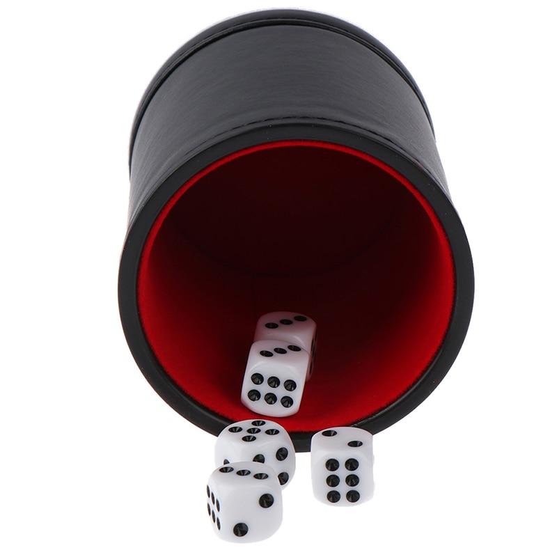 Comércio exterior plutônio flanela de couro mudo copo de dados barra ktv entretenimento dice cup fontes do jogo