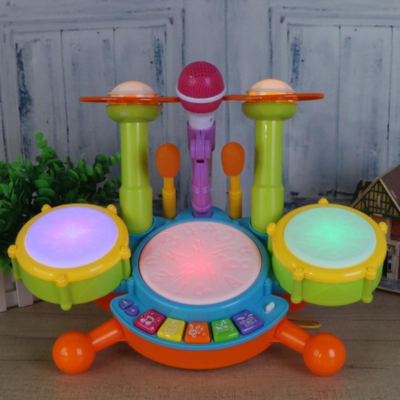 Bebê musical tambor de brinquedo crianças jazz