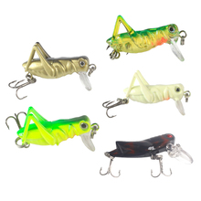 5Pcs Colorful Grasshoppers Fishing Lures Hard Baits Long Casting Bonic Insects