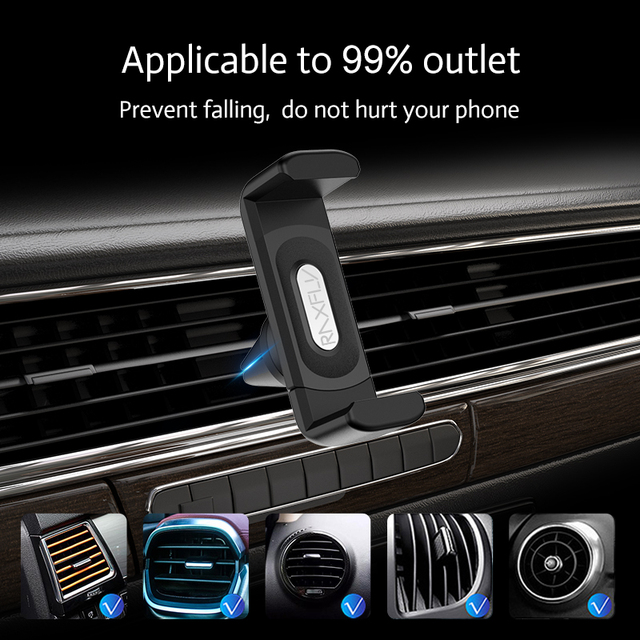 RAXFLY Car Phone Holder For iPhone Smartphone Air Vent Mount Clip 360 Rotation Universal Support Telephone Voiture Soporte Movil 5