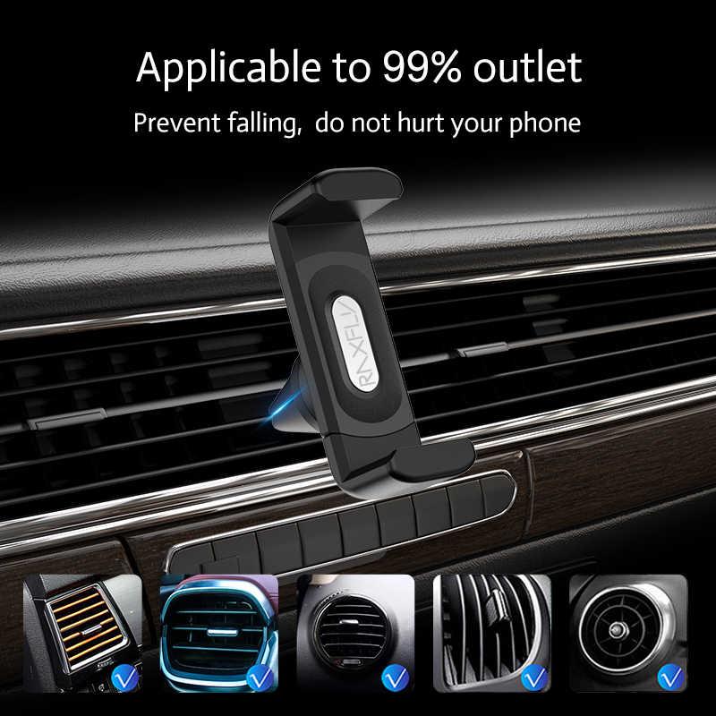 Raxfly Auto Telefoon Houder Voor Iphone Smartphone Air Vent Mount Clip 360 Rotatie Universele Ondersteuning Telefoon Voiture Soporte Movil