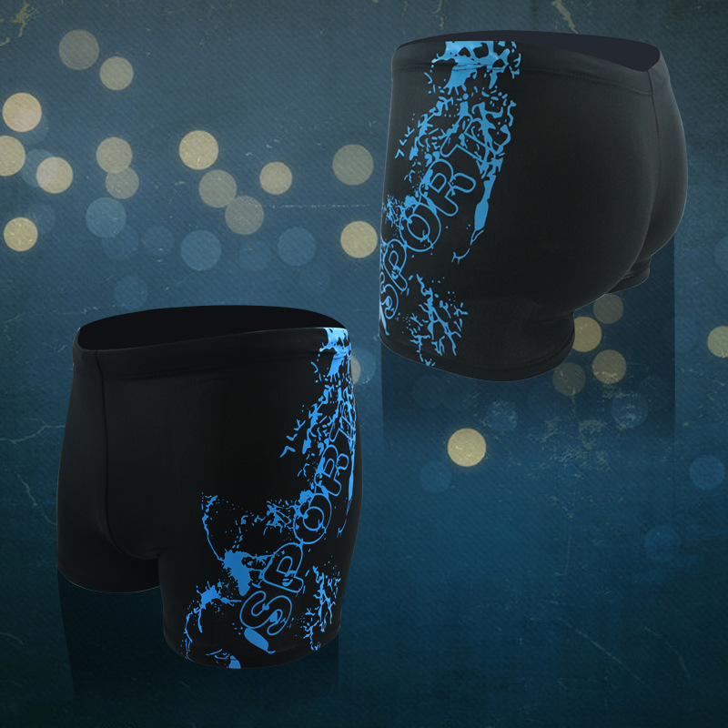 Summer New Style MEN'S Swimming Trunks Quick-Dry Breathable Oblique Point Printed Swimming Trunks Boxer Surfing Beach Hot Spring