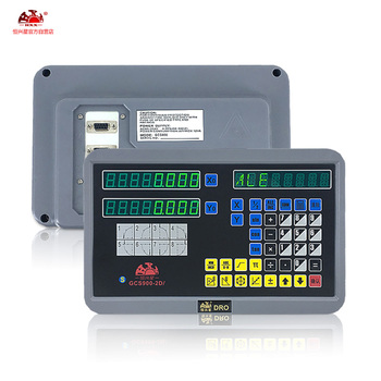 The digital readout 2-axis DRO system and 5u optical linear scale are used for lathe and milling machines free of freight