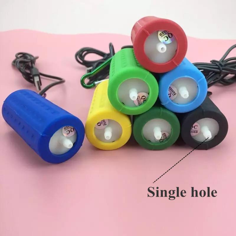 Аквариумный кислородный воздушный насос, бесшумный портативный USB Мини энергосберегающий аэратор 7 цветов для домашнего магазина, товары д...