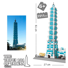 цена на Blocks Toy wange 5221 Famous Architecture series The Taipei 101 3D Model Building Blocks Kits Classic Toys For Children Gifts