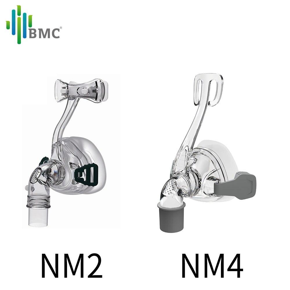 Маска BMC CPAP для автомобиля, носовая маска для лица, силиконовый материал, размер/М/Л, с головным убором, бесплатная доставка