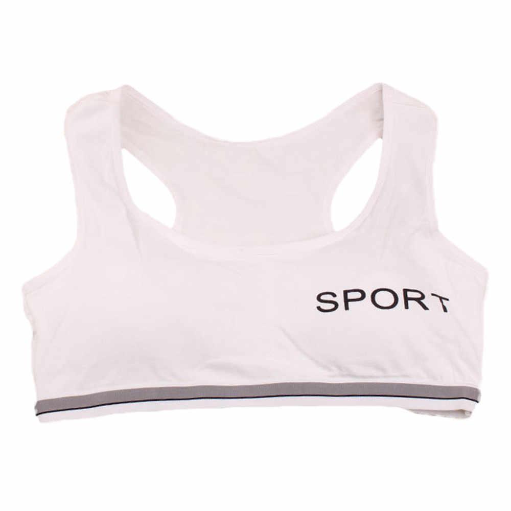 Adorável puberdade sutiã crianças adolescentes desenvolvimento meninas underwear sutiãs meninas colete crianças roupas íntimas esportivas sutiã