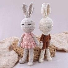 New Crochet Plush Rabbit Dolls Baby kawaii Bunny Monkey Stuffed Toys Kids Sleeping Doll for Girls Boys Christmas Gift Room Decor