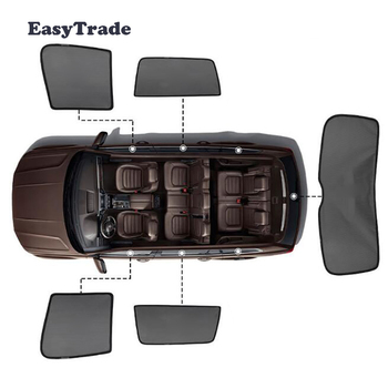 For Volkswagen VW Golf 7 5 6 4 Accessories Magnetic Car Sun shade Mesh Sunshade Side Window Visor Sunscreen Insulation Pcs