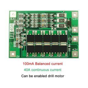 3S 40A литий-ионная батарея зарядное устройство Lipo ячеечный модуль PCB плата защиты BMS для сверлильного двигателя 12,6 в с балансом 35ED