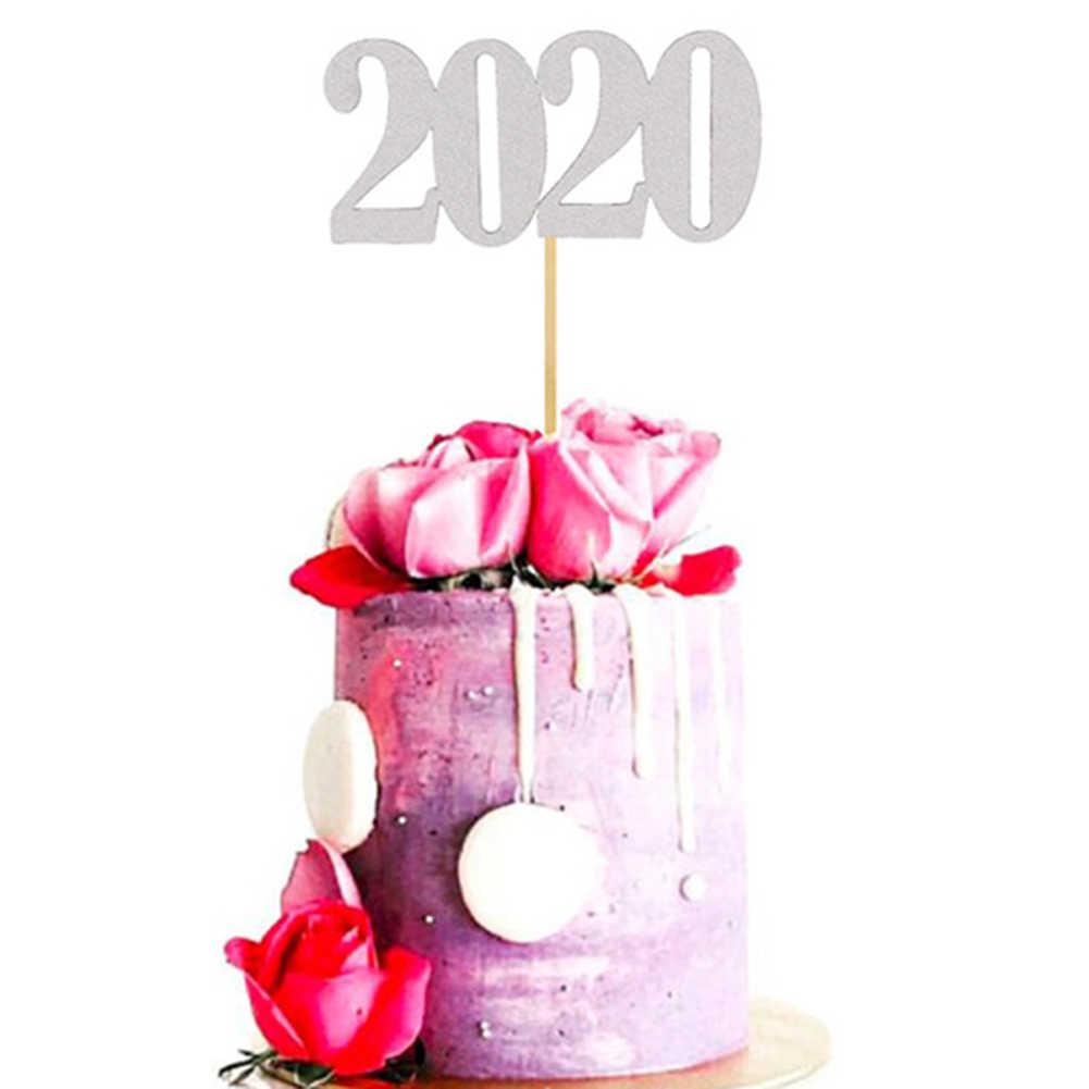 עוגת 2020 חדש שנה מסיבת קישוט הנוצצת החדשה שנה צילינדר ערב מסיבת Cupcake עוגת Toppers חג המולד דקור Navidad