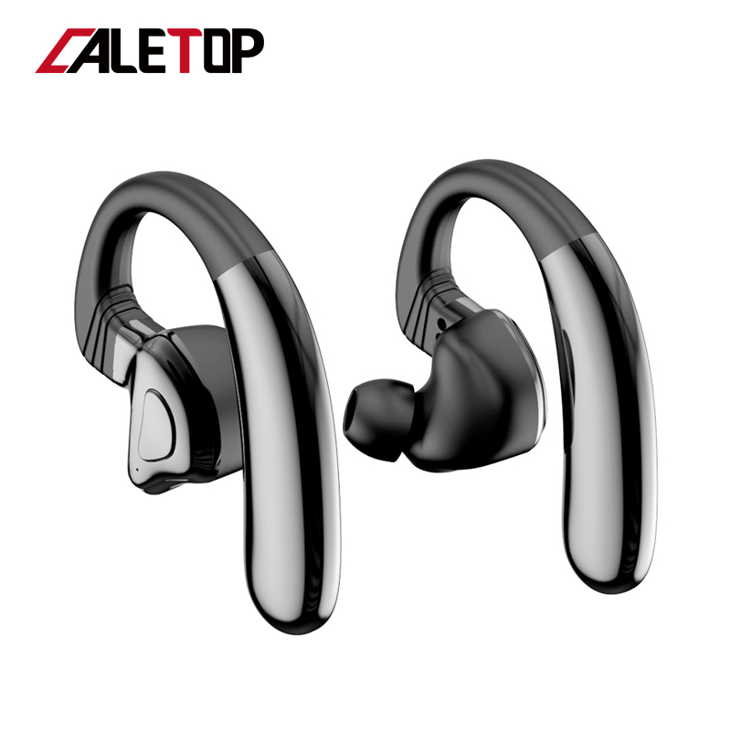 Caletop Sports Wireless Headsets TWS 5.0 Bluetooth Wireless Headphones With Microphones 12 Hours For Iphone For Android Phones