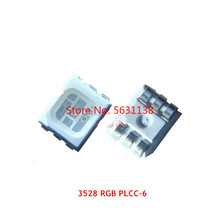 Светодиодные шарики, 50 шт. 3528 RGB 6PIN 20mA Полноцветный SMD светодиодный ультра яркий свет красный синий зеленый PLCC-6 cree LED COB чип светодиодные лампы