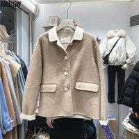 Укороченное пальто на пуговицах Цена 1695 руб. ($21.95) | 3 заказа Посмотреть