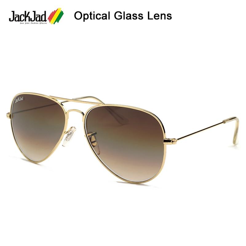Jackjad 2021 moda à moda 3025 estilo piloto lente de vidro óptica óculos de sol vintage clássico design da marca 58mm oculos