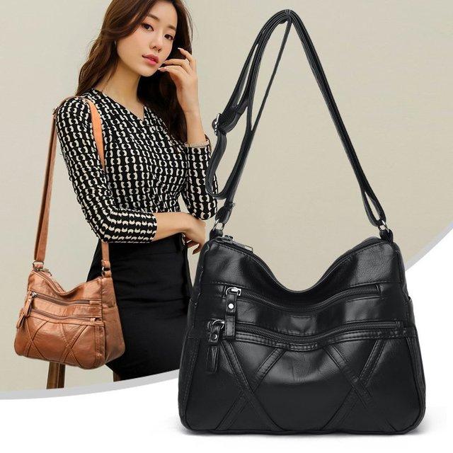 High Quality Women's Soft Leather Shoulder Bags Multi-Layer Classic Crossbody Bag Luxury Designer Handbag and Purse 4