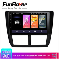 Funrover 2.5D+IPS Android 9.0 Car multimedia dvd player For Subaru Forester XV WRX 2008 2009 2010 2011 2012 radio gps navigation