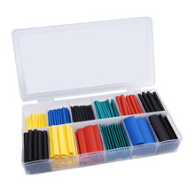 530-580PCS termoretractil Shrinking Tubing Assorted Wire Cable Insulation Sleeving,Thermoresistant tube Heat Shrink wrapping Kit