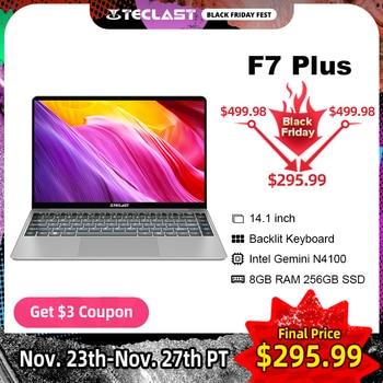 Teclast F7 Plus 14.1 inch IPS 1920 x 1080 Laptop Intel Gemini Lake N4100 8GB RAM 256GB SSD Windows 10 Notebook Backlit Keyboard