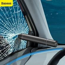 Baseus Car Safety Hammer Window Breaking Flashlight Portable Auto Glass Breaker Emergency Life Saving Tools Car Accessories