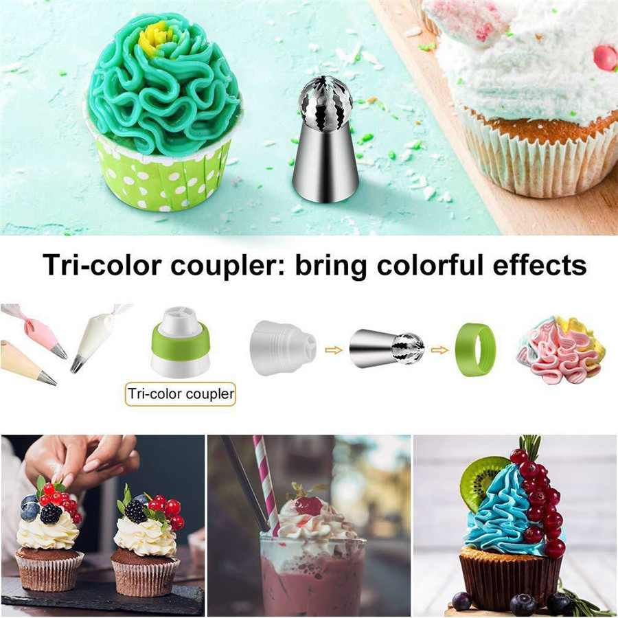 Hot-selling 34-piece decorating mouth set baking tool cake decorating mouth TPU decorating bag cake tool cake decorating tool