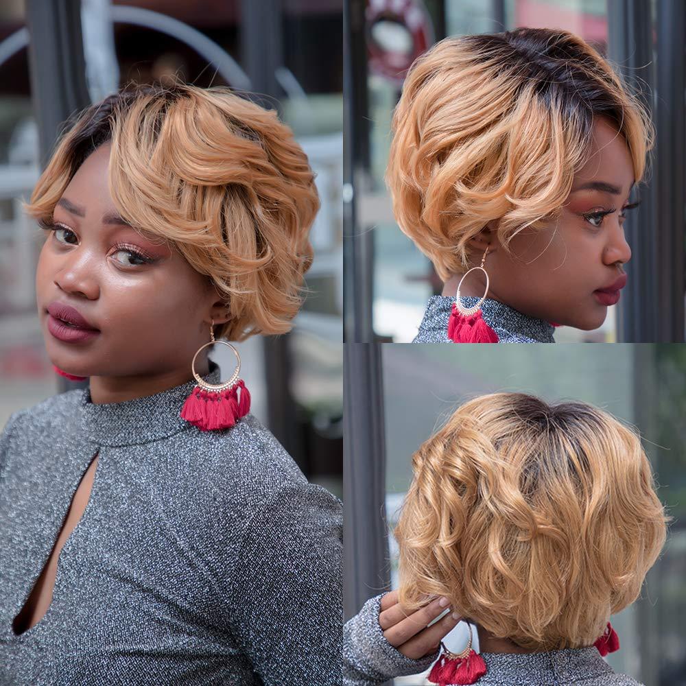 Pixie Cut Wig Human Hair Wig Short Wavy Hair Bob Hair Wigs Lace Front Wig Lace Front Human Hair Wig Cheap Human Hair Wig