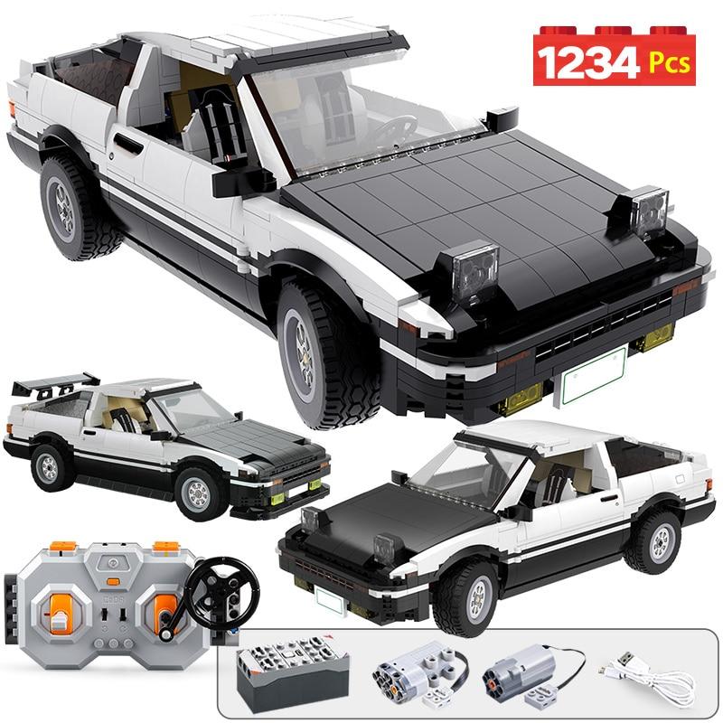 1234pcs City Remote Control Supercar Building Blocks Technic RC/non-RC Drift Racing Car MOC Model Bricks Toys For Boys