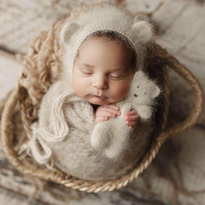 Newborn Nphotography Props Basket Children's Studio Woven Basket Baby Photo Baby Photo Weaving Frame Infant Basket Prop Toy Gift