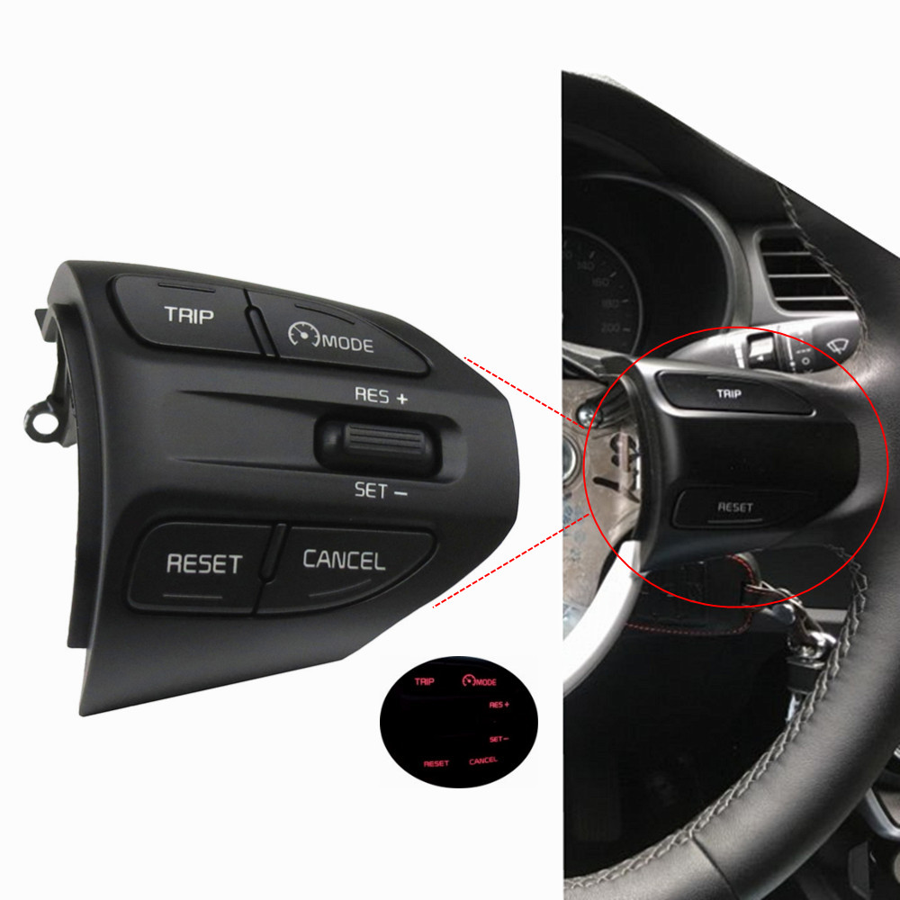 Steering Wheel Button For KIA K2 RIO 2017 2018 RIO X LINE Buttons Bluetooth Phone Cruise Control Volume image