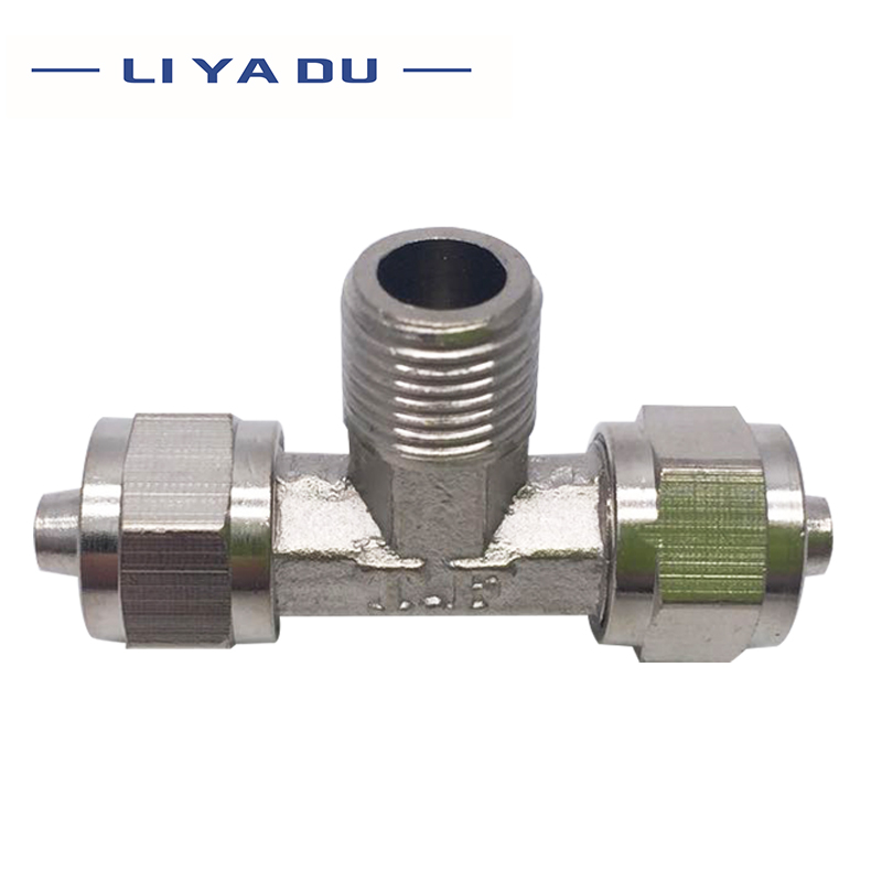 1PCS <font><b>Air</b></font> <font><b>Connector</b></font> <font><b>Fitting</b></font> T Shape Tee PB 6mm 8mm 10mm 12mm Hose Pipe to 1/8